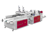 TWO LINE HOT SEALING HOT CUTTING BAG MAKING MACHINE