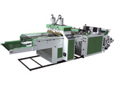 HIGH SPEED TWO LINES HOT SEALING HOT CUTTING BAG MAKING MACHINE